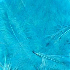 Turquoise Feathers for Balloons - Eleganza 50g Bag